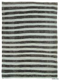 kilim rugs black and white vintage striped rug handwoven in turkey in this tribal rug is