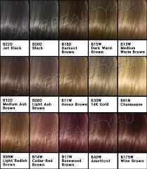 Clairol Demi Permanent Color Chart Ion Demi Permanent Hair Color Chart Dark Brown Hairs Of Demi