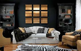 wall paint with brown furniture. Dark Brown Color Overlaping Wooden Coffee Table Cool Abstract Art Wall Painting White Decorating Living Room Paint Ideas With Accent Small Furniture N