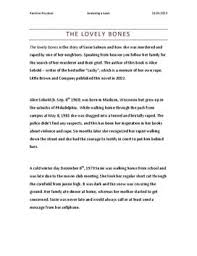 the lovely bones book report essays statistics project custom  add comment cancel reply