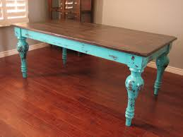 Distressed Black Kitchen Table Really Liking The Teal Distressed Look It Looks As If This Coffee