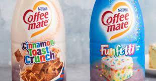 Nestle coffee mate coffee creamer, cinnamon vanilla creme, liquid creamer singles, non dairy, no refrigeration, box of 50 singles (pack of 4) 0.37 fl oz (pack of 200) 4.6 out of 5 stars 21,784 Coffee Mate Is Releasing Cinnamon Toast Crunch And Funfetti Cake Creamers 12 Tomatoes