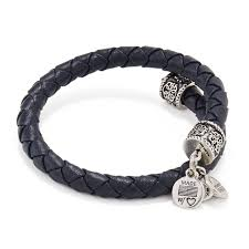 alex ani midnight leather braided wrap