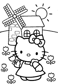 Small Picture coloring pages for kids animals cute characters Hello Kitty
