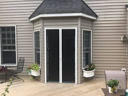 high retractable door screen for inswing french doors