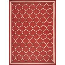 safavieh courtyard indoor outdoor 6 7 x 9 6 square area rug red only