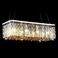 27 wide pendant chandelier adorned with graceful crystal bar and gleaming polished finish