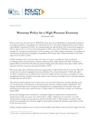 monetary policy for a high pressure economy center on budget and  file type icon monetary policy