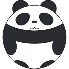 丸いパンダのキャラクター無料イラストフリー素材