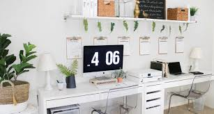 Organizing ideas for home office Diy Home Office Organization Ideas And Layout Ikea Office Furniture Home Office In Bedroom House Mix Blog Office Organization Ideas And Minimalist Checklist House Mix