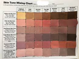 Umber Color Chart Skin Tone Mixing Chart Create Art With Me