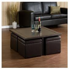 Round Table Ottoman Oversized Leather Ottoman Coffee Table Black Round Ottoman Coffee