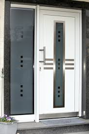 glass front door designs. Modern Front Door With Silver Ornamentation And Glass Window Designs S