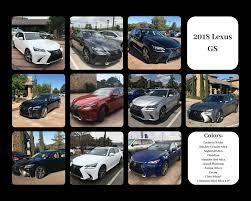 Lexus Colors For The 2018 Lexus Gs Sedan Lexus Color Chart