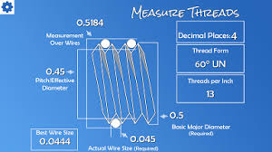 Machinists Calculator Measure Threads Across 3 Wires