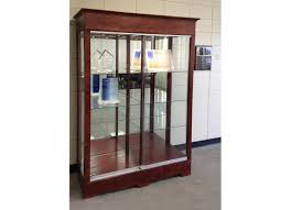 48 inch wide transitional rectangle tower display case