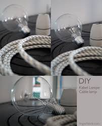 diy cable lighting. DIY: Cable Lamp Tutorial. With Textil * Kabellampe Selber Bauen Mit Kabel Diy Lighting E