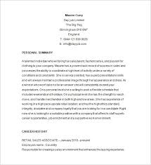 Resume Template For Retail Retail Resume Template 10 Free Samples Examples  Format Ideas
