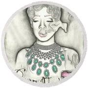 Pour It Up Round Beach Towel for Sale by Desiree Sims