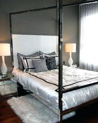 Chrome Canopy Bed White Glam Chrome Canopy Bed Chrome Canopy Bed ...