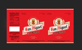 Miguel S Nutrition Chart San Miguel Beer Can Labels On Behance
