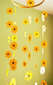 nursery decor sunflower mobile paper mobile for by