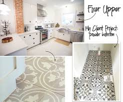 Patterned Tiles For Kitchen Jessica Stout Design As Seen On Fixer Upper The Brick House