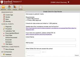 Self Service Chart Review Stanford Research Repository