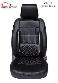 Buy Autofurnish (cz-118 Sicilia Black) Skoda Yeti Leatherite Car ...