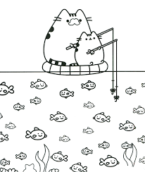 Pusheen Coloring Pages To Print Collection Fun For Kids