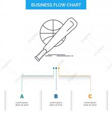 Baseball Chart Baseball Basket Ball Game Fun Business Flow Chart Design Wit