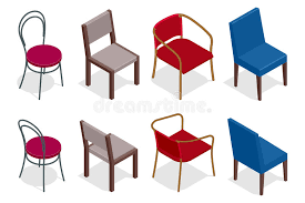 isometric office furniture vector collection. Download Vector Cafe Chair Collection. Flat 3d Isometric Chairs Illustration. Stock Office Furniture Collection A