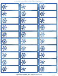 Great Papers Blue Foil Snowflake Address Label