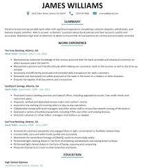 Banking Resume Samples Bank Resume Samples Cmt Sonabel Org