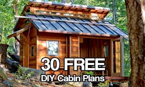 cabin plans diy tiny house small building recent