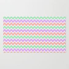 c peach pink and lavender and mint green chevron area thro decampstudios area rugs