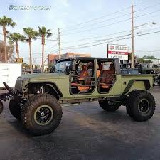 military style 4 door jeep