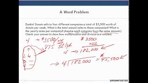 business math math for business and applications chapter 1 dissect and solve word problems