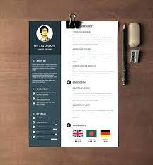 Free Clean Realistic Resume Template Graphic Design Designer