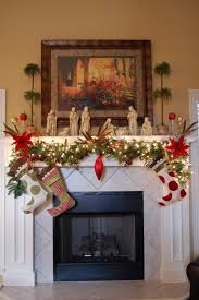 mantel lighting. excellent christmas mantel decor with white color and garland xmas decorations also lighting for modern home i