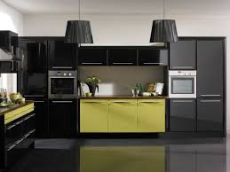 Yellow Kitchen Decorating Kitchen Big Pendant Lamps Combined With Black Kitchen Also