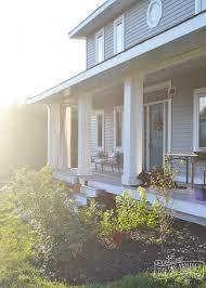 craftsman porch with diy porch columns diy curtains