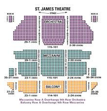 St James Theater Seating Chart St James Theatre Theater Seating Seating Charts Theatre
