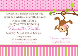 Monkey Baby Shower Invitation Ideas Free Printable Baby