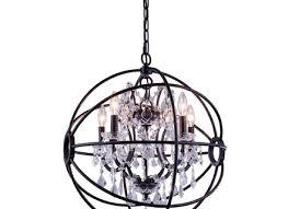 foucaults orb light dark bronze iron orb crystal chandelier
