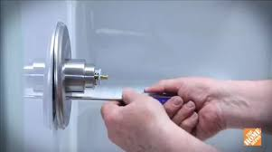 Changing shower faucet Handle How To Install New Shower Faucet Bath How To Videos And Tips At The Home Depot Home Depot How To Install New Shower Faucet Bath How To Videos And Tips