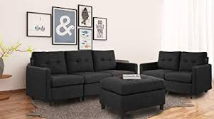 6 piece modular sectional. Delighful Sectional DAZONE Modular Sectional Sofa Assemble 6Piece Sofas  Bundle Set Cushions Easy With 6 Piece N
