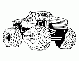 Terminator Monster Truck From Show Coloring