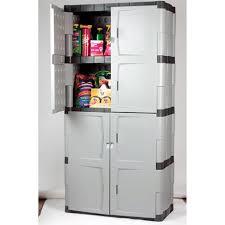 plastic garage storage cabinets. modern garage with rubbermaid plastic storage cabinet, four shelf double door resin cabinets n