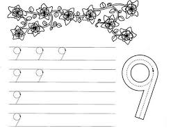 Small Picture Number 9 Worksheet Coloring Page Number 9 Worksheet Coloring Page